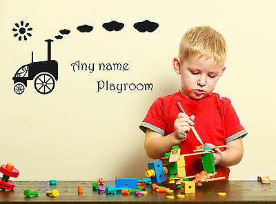 Personalised Ford T Car Any Name Playroom Vinyl Wall Sticker Decal Boy Bedroom