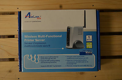 NEW Airlink 101 AMPS240W 1 Port Wireless Multi-Functional Printer Server