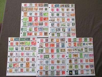 ~175 Caribbean Hinged On Pages- Unchecked - As Received - See Scans (N15)