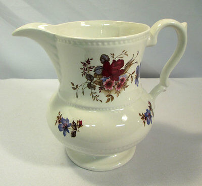 Vintage Milk Pitcher Creamer Lord Nelson Pottery Floral Design