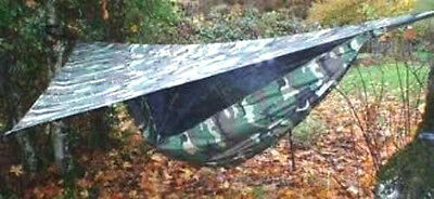 Hammocks Fishing Camping Army Rated +2X3 Fly Tarps  In Assorted Colors Buy Now