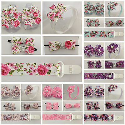 baby girls headband hair clip dummy flowers floral bow shower barefoot sandal