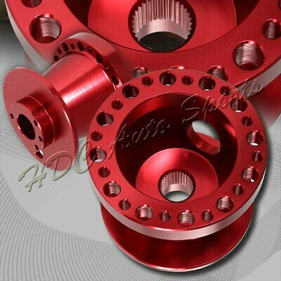 For 2002-2006 Acura RSX DC5 Red Aluminum Steering Wheel 6-Hole HUB Adapter Kit