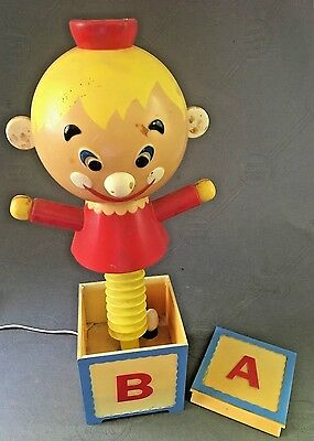 Vintage Dolly Toy Co Jack In The Box Childrens 3-Way Nursery Light Lamp Clown
