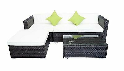 Rattan Garden Furniture Patio Sofa Chair Table Set Available In Black Or Brown