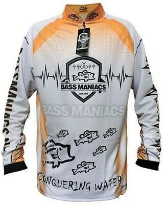 Bass Maniacs Fishing Jersey ORANGE Summer Collection 2016 Tournament Fishing