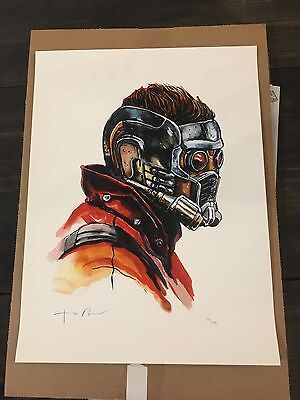 GUARDIANS STAR LORD poster print Shiny Objects giclee watercolor TIM DOYLE