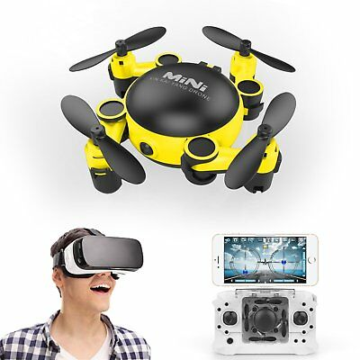 WIFI 720P FPV Phone Foldable 6-Axis ELFIE Contro Selfie Camera Drone Quadcopter