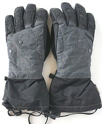 $95 Under Armour Mtn Primaloft Gore-Tex Womens Winter Gloves Black Gray Size Med