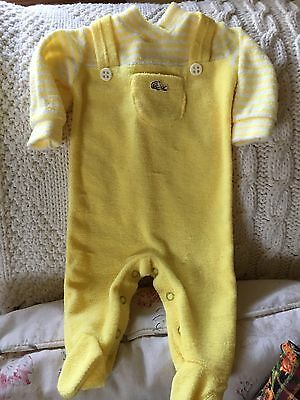 Vintage Izod LaCoste Yellow Terry Sleeper Small to 11 lbs.
