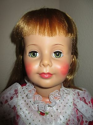 """36 inch G-35 Ideal Blonde Hair """"Babyface"""" Patti Playpal Doll in Vintage Outfit"""