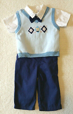 Baby boys dressy 3 piece outfit set size 6-9 months