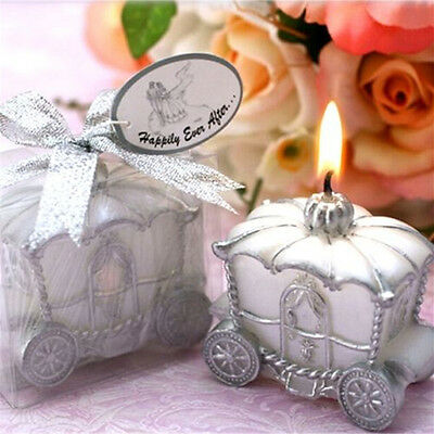 Fashion Elegant Pumpkin Carriage Candle for Wedding Favor Birthday Party GiftUS7