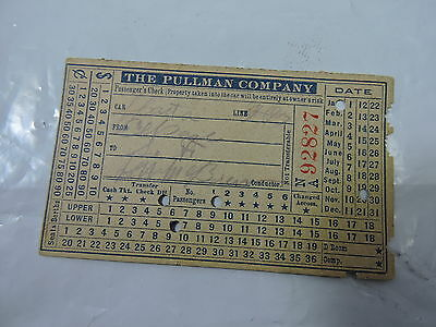 The Pullman Company Train Ticket 1940's