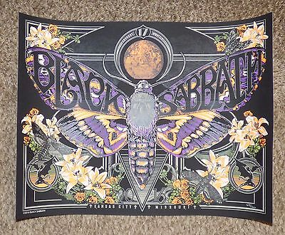 "Black Sabbath 18""X24"" Lithograph Poster Kansas City The End Tour Limited Edition"