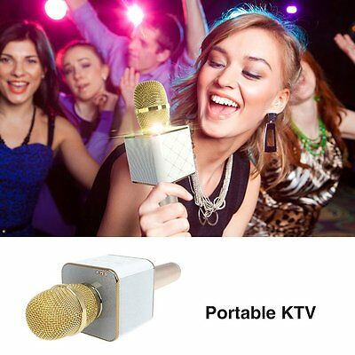 Genuine Q7 Wireless Karaoke Microphone KTV Player Bluetooth for iOS Android UK