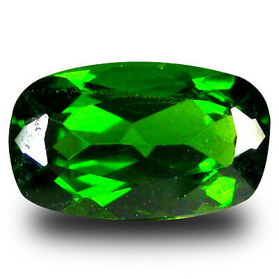 1.87 ct  Remarkable Cushion Shape (10 x 6 mm) Green Chrome Diopside Gemstone