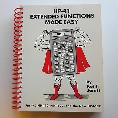 Extended Functions Made Easy book for use with HP-41 Hewlett Packard Calculator