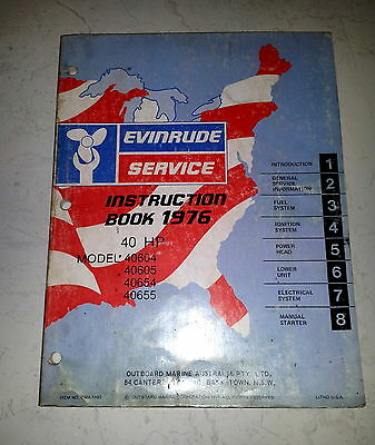 Service Manual Evinrude 1976 40 HP