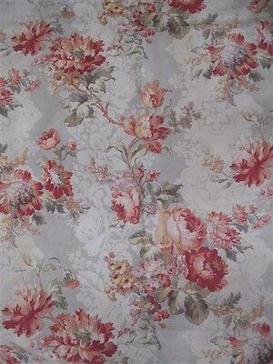 Toile de cotton ,  2  antique french fabric curtains  cotton toile for canopy