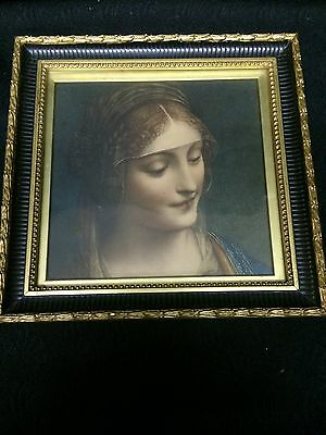 charming victorian framed print of lady, lovely print and frame