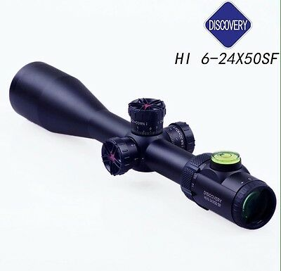 DISCOVERY OPTICS HI6-24x50SF Target/Hunting Scope MilDot HK Reticle .338LM Rated