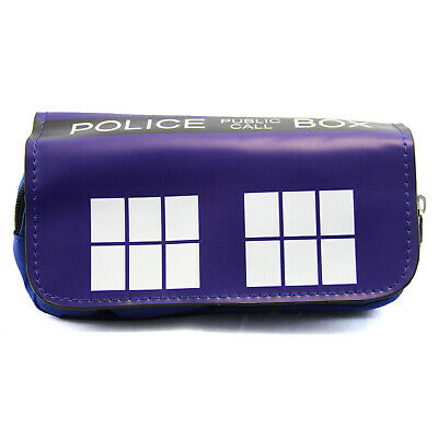 """Doctor Who Clutch Wallet - TARDIS New Pencil Case Travel Phone Purse (7x4"""")"""