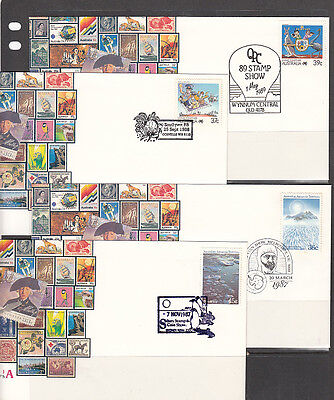 1980's Pistorial Postmarks x4 Diff. Covers Unaddressed