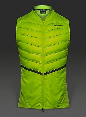 NIKE AEROLOFT MEN'S RUNNING GILET SIZE M  (mint green) see second pic for colour