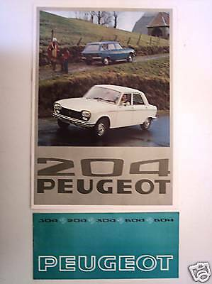 PEUGEOT 204 - 1976 + GAMME 1976 // catalogue brochure prospekt folder dépliant