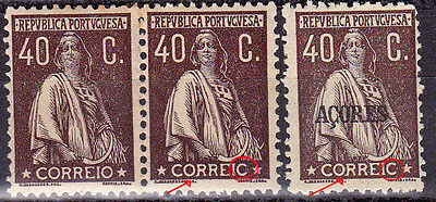 PORTUGAL 40C Ceres Same CORREIC.Normal and Açores one- All MNHOG
