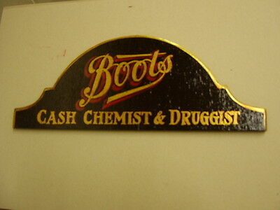 chemist pharmacy TIMBER PEDIMENT  vintage antique apothecary wood sign