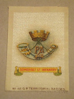 Somerset Lt Infantry Territorial Badge, silk, WW1, Army