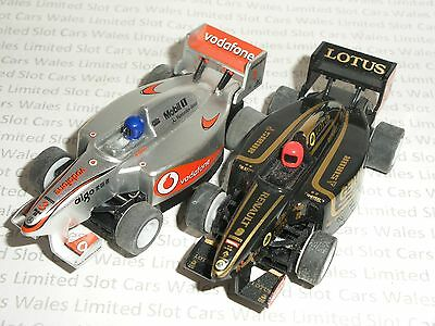 MICRO Scalextric - Pair of F1 Lotus and Mclaren - Nr. Mint