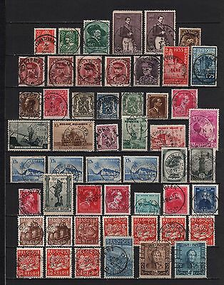 Belgium - Belgique - België 1930/1949 Used 52 stamps with central Cancels