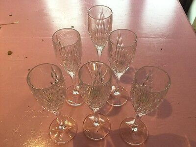 6 crystal champagne flutes