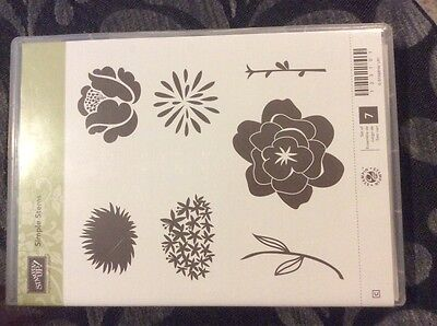 Stampin Up Stamp set - Simple Stems- Clear/Rubber NEW