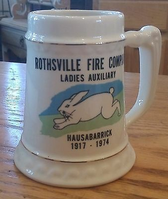 Rothsville Pa Fire Company Ladies Auxiliary 1917-1974 Stein Mug
