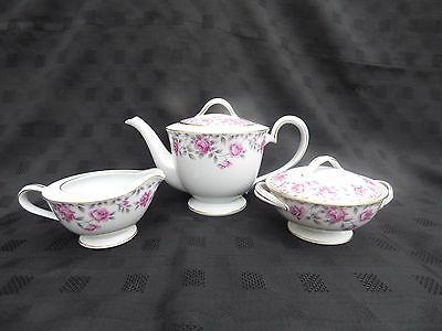 Noritake Porcelain, 3 Piece Tea Service, Royal Crockery, Japan
