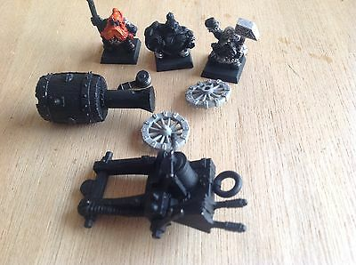 Warhammer Dwarfs Flame Cannon And Crew.