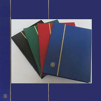 Lighthouse Basic Type Stockbook For Stamps 32 Black Pages, Blue Colour