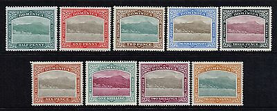 Dominica 1903-07 Roseau from the sea set to 2s.6d., MH (SG#27/35)
