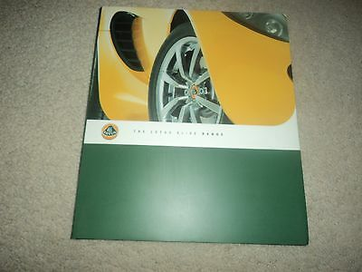 Lotus Elise (incl. 111S - Sports Racer - Type 25 - Type 72) - Brochure - Mint