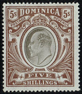Dominica 1903-07 5s. King Edward VII, MH (SG#36)