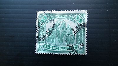 Federated Malay States , $1 green & pale green . SG 48a 1904-22. used.