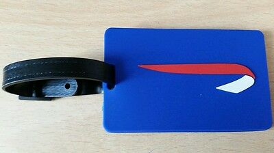 BRITISH AIRWAYS, LUGGAGE TAG, FLEXIBLE PLASTIC - NEW, STILL In SEALED PACK !