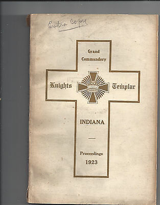 Proceedings, Grand Commandery of Indiana, 1923,  Lot 48