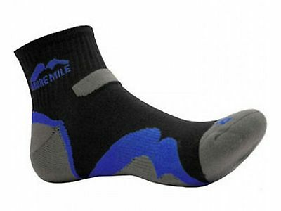 2 Pairs More Mile Mens Oregon Trail Running / Gym / Sports Cushioned Ankle Socks
