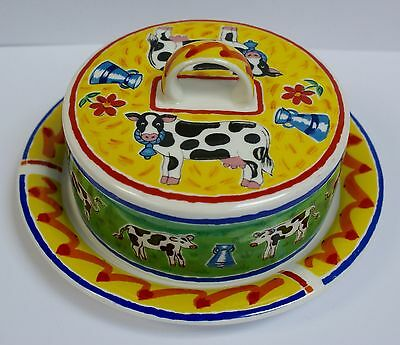 "Dunoon Stoneware ""Farmyard"" Butter/Cheese Dish by Jane Brookshaw"