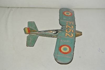 ancien jouet tole   AVION JEP F252 MORANE-SAULNIER  tin air plane